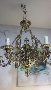 Restaurar lampara de bronce